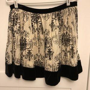 Velvet Holiday skirt ~ URBAN OUTFITTERS